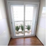 porta de alumínio com vidro preço Franco da Rocha