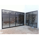 porta de alumínio com vidro na Santana de Parnaíba